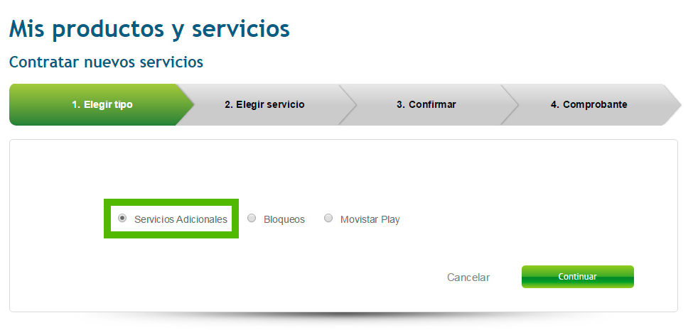 Contratar servicios adicionales telefonía hogar
