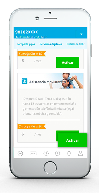 App Asistencia Movistar Servicios digitales 3